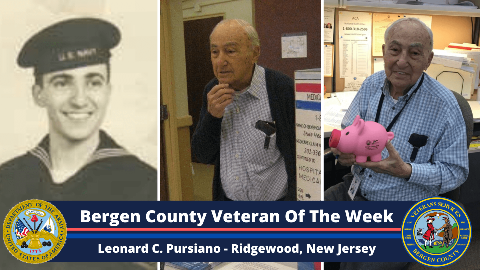 Read more about the article Bergen County Veteran of the Week: Leonard C. Pursiano