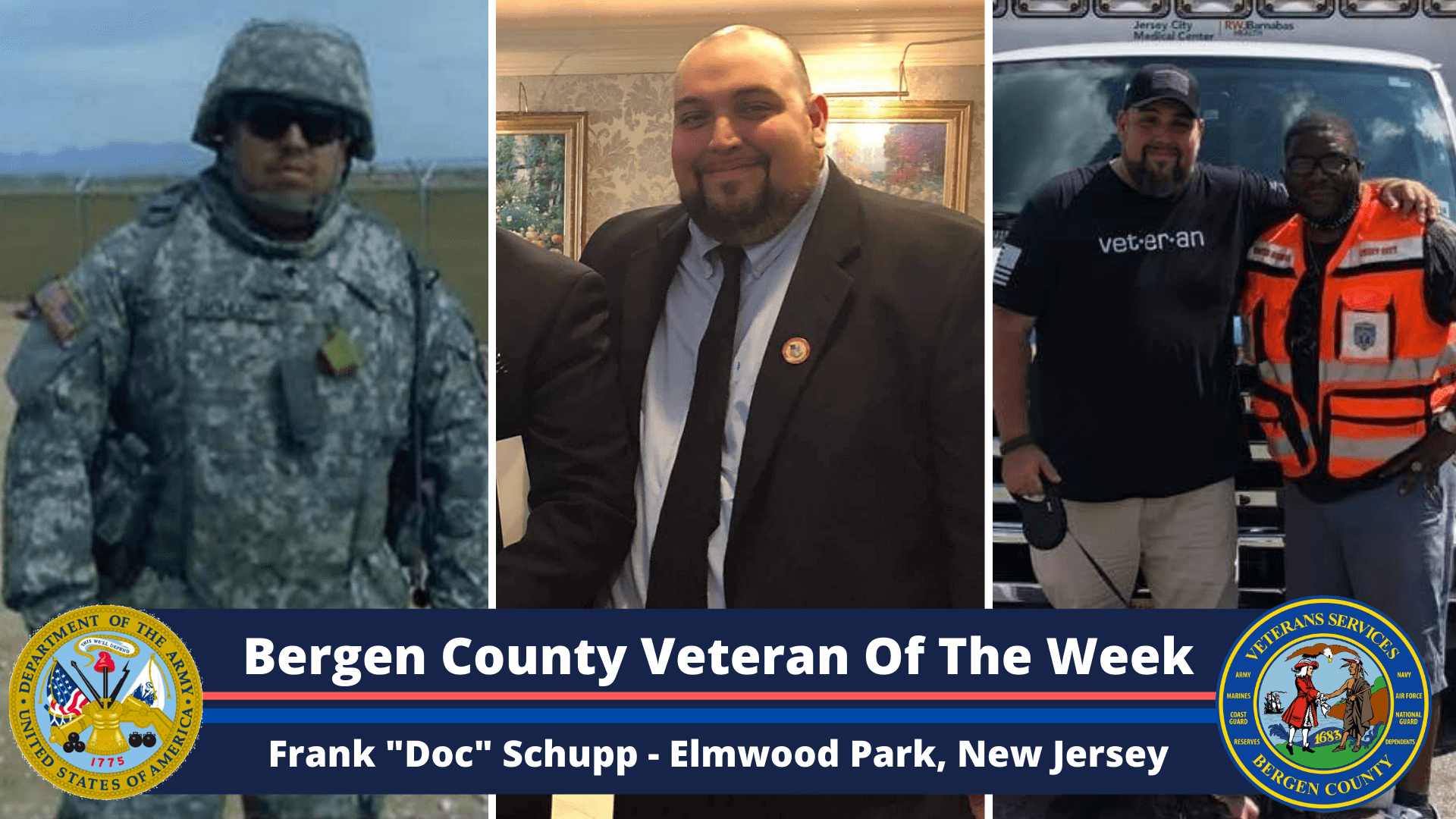 """Read more about the article Bergen County Veteran of the Week: Frank """"Doc"""" Schupp"""